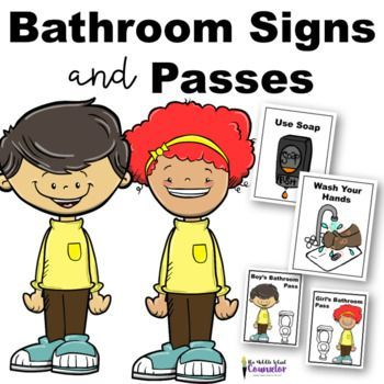 Bathroom And Water Fountain Posters And Passes Elementary School Counseling Middle School Counseling Elementary School Counselor