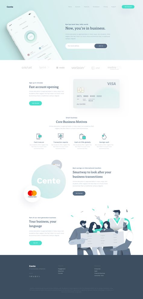 Cente Landing Page - Full Preview