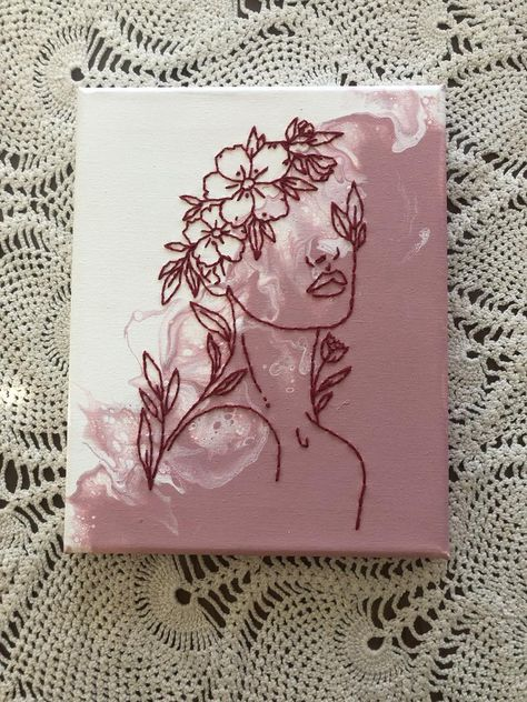 Cute Canvas Paintings, Small Canvas Art, Mini Canvas Art, Diy Canvas, Easy Canvas Art, Acrylic Painting Canvas, Canvas Painting Designs, Canvas Painting Tutorials, Simple Acrylic Paintings