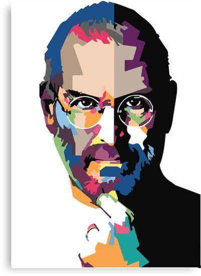 Steve Jobs Portrait Steve Jobs Painting Canvas Print By Kartick Dutta Canvas Painting Steve Jobs Wpap Art