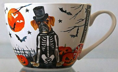 """Details about  /PORTOBELLO By INSPIRE /""""PUMPKIN PUG/"""" Porcelain COFFEE Cup MUG Designed in ENGLAND"""