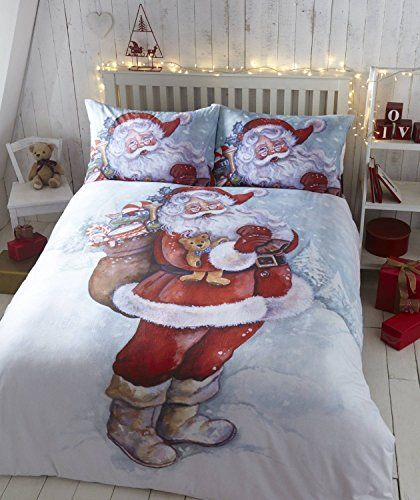 Christmas Buddies Red Bedding King Size Bedlam Christmas Easy Care Duvet Cover Set
