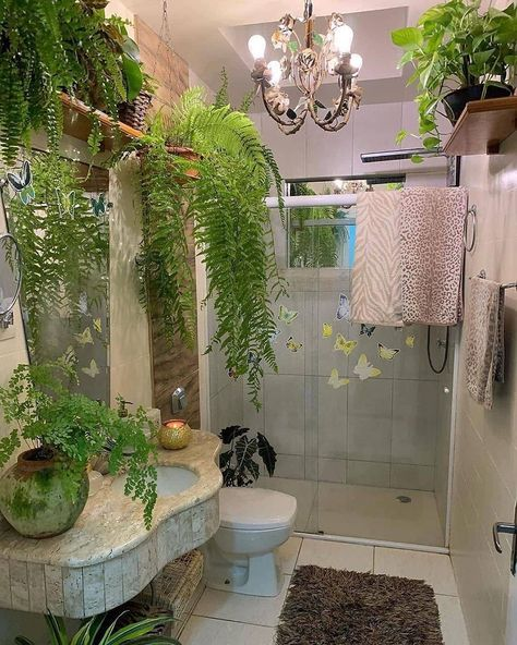 39 Stylish And Simple Bathroom Remodeling Decoration Ideas - Page 2 of 13 - Septor Planet Dream Home Design, My Dream Home, House Design, Room With Plants, Bathroom Plants, Aesthetic Room Decor, Dream Apartment, Room Ideas Bedroom, Dream Rooms