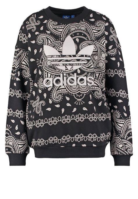 dla całej rodziny szczegółowy wygląd eleganckie buty adidas Originals Bluza black/white | Adidas Originals ...