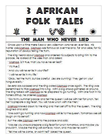 It is an image of Printable Folktales regarding second grade