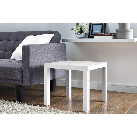 Mainstays Parsons Square End Table Multiple Colors White End Tables End Tables End Tables With Drawers