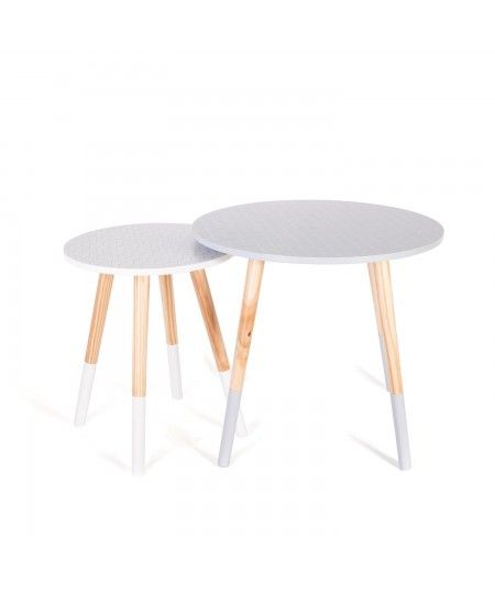 Epingle Par Eric Bourdin Sur Home Design Guyane Tables Gigognes Mobilier De Salon Gris Blanc