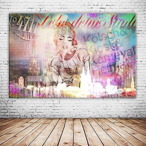 lebe deine stadt 2018 auf leinwand und oder als alu druck versandkostenfrei bestellen illustration madchen malerei bild foto ohne rahmen