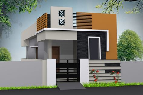 Single Floor Elevation Photos Small House Elevation Design Small House Elevation House Elevation