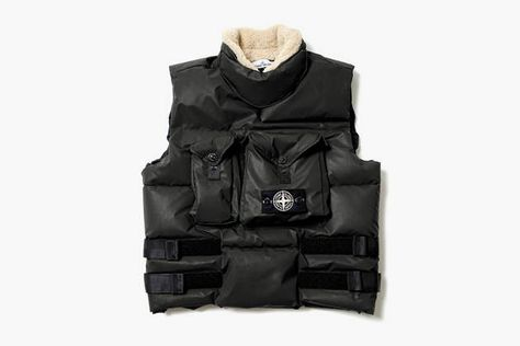 Reflective Down Vest by Stone Island on What Drops Now