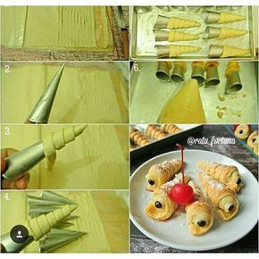 Cream Horn Pastry Pastry Puff Pastry Cemilan