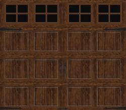 Ideal Door Designer 8 X 7 Oak Walnut Insulated Garage Door With