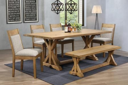 Douglas Collection 107221 S612 6 Piece Dining Room Set With
