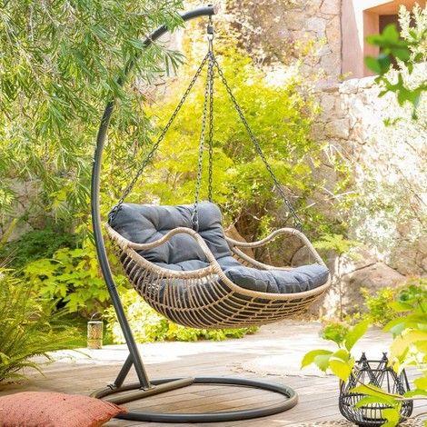 fauteuil de jardin suspendu design