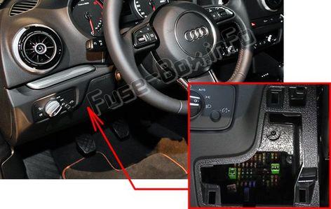 audi a3 / s3 (8v; 2013, 2015, 2016, 2017, 2018) fuse box location ... audi rs4 fuse box location  pinterest