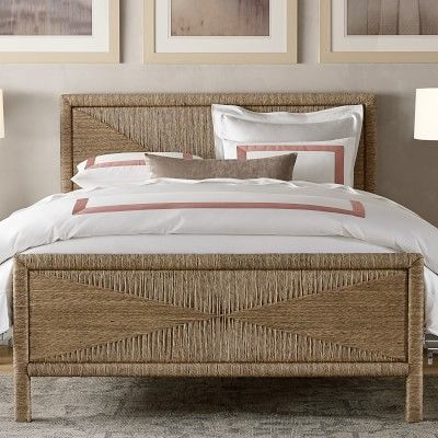Mallory Woven Seagrass Bed Williamssonoma Bed Cane Bed Master