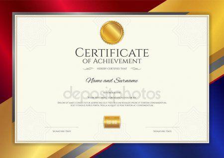 Plantilla De Certificado De Lujo Con Elegante Borde Marco Diseno Diploma De Graduacion O Termin Diseno De Diplomas Plantillas De Diplomas Marcos Para Diplomas