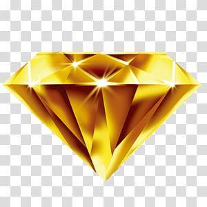 Gold Gemstone Diamond Yellow Designer Gold Yellow Diamond Transparent Background Png Clipart Diamond Illustration Transparent Background Clip Art