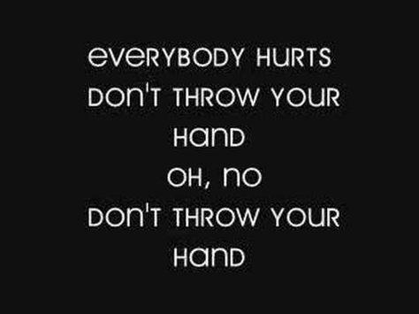 Everybody Hurts Lyrics Unframed Print R.E.M