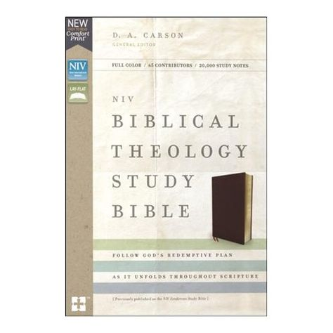 NIV Biblical Theology Study Bible, Bonded Leather, Burgundy, Comfort Print