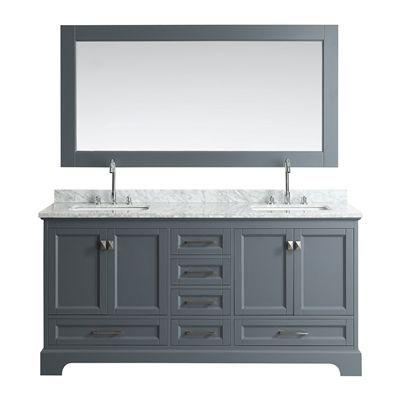 Design Element Bathroom Vanity Dec068b Omega 72 In Double Sink