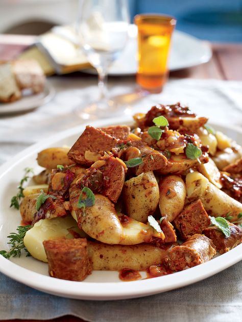 Andouille Steamed Potatoes Recipe Potatoes Food Recipes Steamed Potatoes
