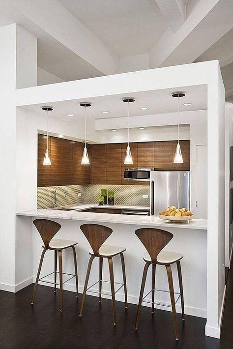 25 Modern Small Kitchen Design Ideas   Kitchen bar design ...