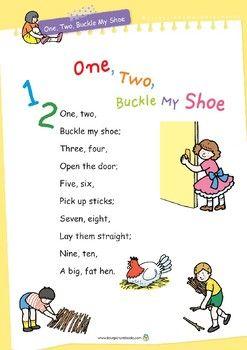 Nursery Rhyme Activities One Two Buckle My Shoe Printables Nursery Rhymes Lyrics Nursery Rhymes Activities Rhyming Activities