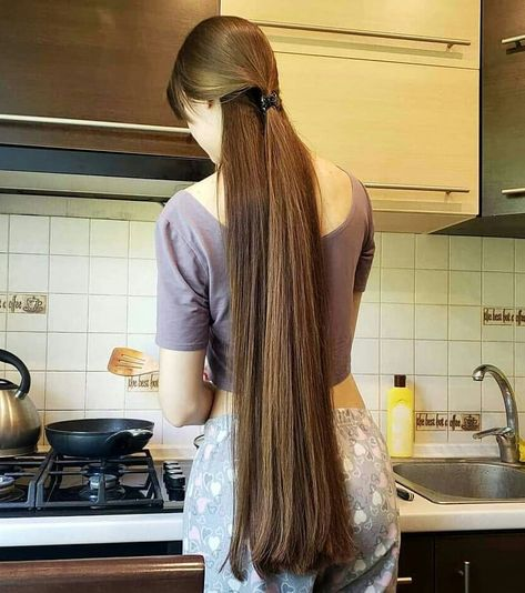 Hair that I, well, just like Long Silky Hair, Long Brown Hair, Really Long Hair, Super Long Hair, Beautiful Long Hair, Gorgeous Hair, Long Hair Ponytail, Ponytail Hairstyles, Curly Hair Styles