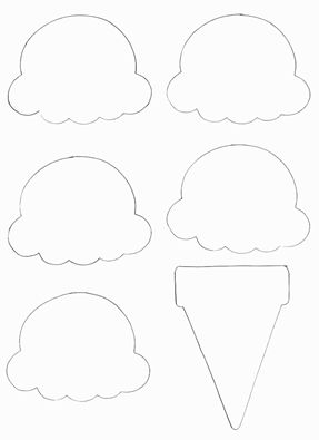Ice Cream Cone Template - Crafts for kids - icecream Ice Cream Cone Craft, Ice Cream Crafts, Ice Cream Art, Ice Cream Theme, Ice Cream Cones, Daycare Crafts, Toddler Crafts, Diy Crafts For Kids, Art For Kids