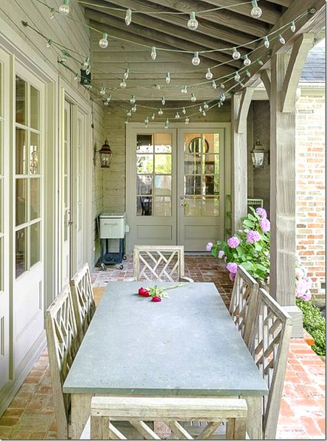 Maybe the south porch should be wide enough to fit a table and chairs!