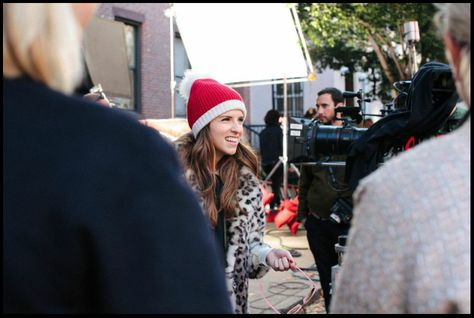 "#charmcolorfully break on the set of ""the waiting game"" starring anna kendrick"