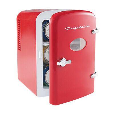 Frigidaire Portable Retro 6 Can Mini Fridge Red 12v Car Home Cords Included 7445002447461 Ebay In 2020 Mini Fridge Desk Fridge Compact Refrigerator