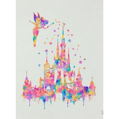 Disney Castle Lovely Tinkerbell Peterpan Magic Believe