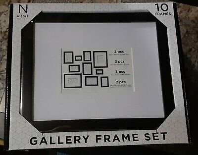 Details About Nicole Gallery Picture Frame Set 8x10 5x7 4x6 2 5x3 5 Ten Frames Assortment In 2020 Picture Frame Gallery Gallery Frame Set Frame Set
