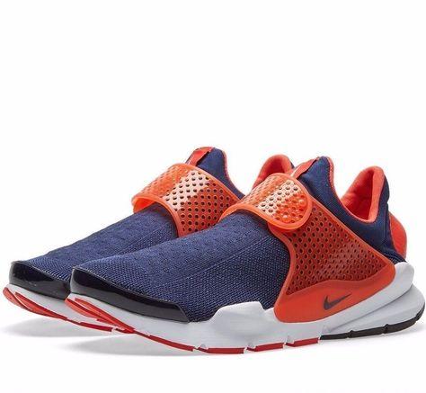 timeless design f68f3 5366b Nike Sock Dart Mens Running Shoes Midnight Navy Orange 819686 402   Shoes    Nike, Running shoes for men, Sock dart