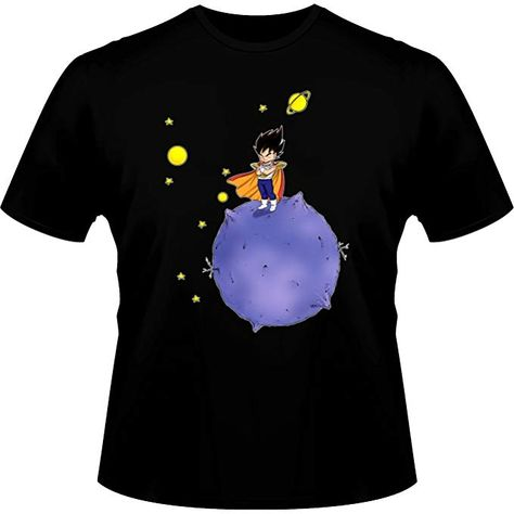 Okiwoki T-Shirt b/éb/é Noir Dragon Ball Z DBZ parodique V/ég/éta Parodie Dragon Ball Z - DBZ Le Petit Prince Saiyan