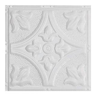 Great Lakes Tin Jamestown Matte White 2 Foot X 2 Foot Nail Up Ceiling Tile Carton Of 5 Sample Metal Ceiling Tile Tile Samples Crown Molding Styles
