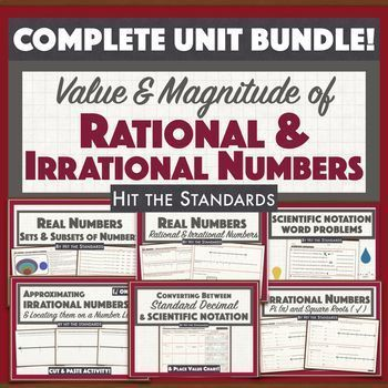 Value Magnitude Of Real Numbers Math Unit 1 Teks Curriculum Bundle 30 Off Real Life Math Math Tutoring Activities Math Lessons Middle School