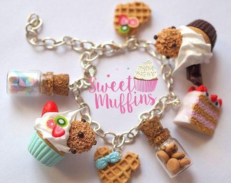 Sweet pendantsMiniature Food Polymer Clay Miniatures Fake   Etsy