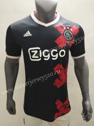 2020 2021 Ajax Black Thailand Soccer Jersey Aaa 416 In 2020 Soccer Jersey Soccer Football Shirts