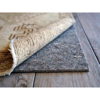 Cushgrip 1 8 Inch Thick Non Slip Felt Rubber Rug Pad 8 X 10 Non Slip Rubber Rugs Types Of Carpet Carpet Padding