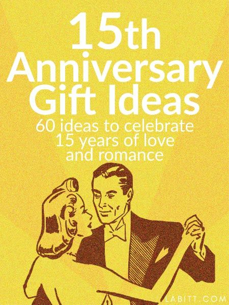 15th Year Wedding Anniversary Gift Ideas For Him And Her