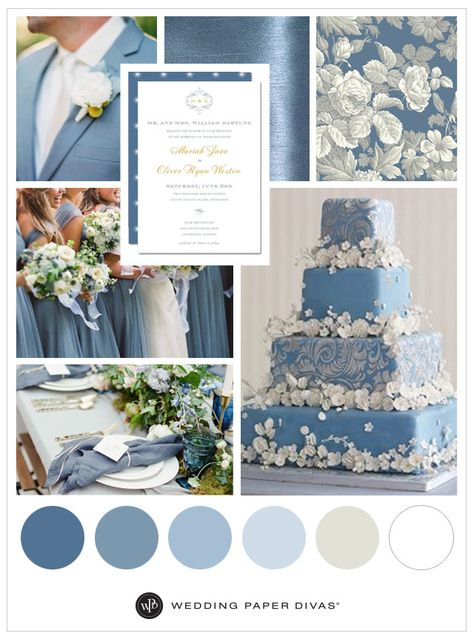 Dusty Blue Wedding Inspiration Shutterfly is part of Blue themed wedding - Find plenty of inspiration for your dusty blue wedding with our whimsical guide on which shades of blue to consider, wedding decor, cake, and