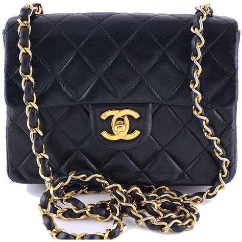 413f414cc161 Pre-Owned Chanel Black Classic Quilted Mini 2.55 Flap Bag ( 1