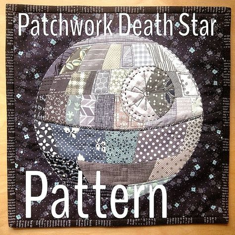 Free English paper piecing Death Star pattern #patchworkdeathstar.