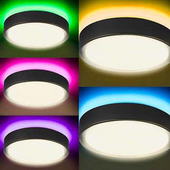 Motion Sensing Led Ceiling Light With Mood Lighting In 2020 Led Ceiling Ceiling Lights Dimmable Led Lights