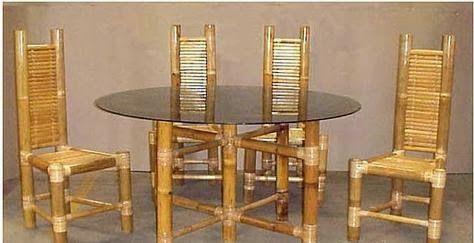hacer una mesa de comedor con bambú, como hacer una mesa de ...