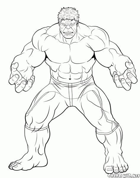 Hulk Dibujos Para Pintar Hulk Coloring Pages Drawing Cartoon
