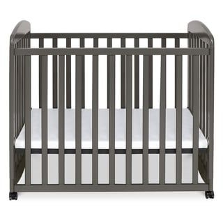 Davinci Alpha Mini Rocking Crib Grey Cherry Finish Gray In 2020 Cribs Portable Crib Mini Crib